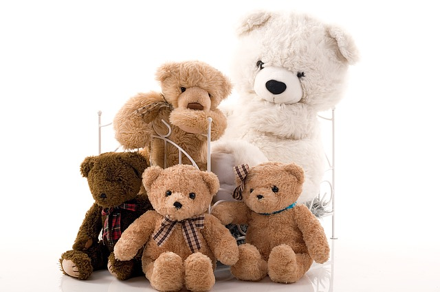Skupina plyšových medvídků